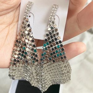 Sliver-Tone Earrings